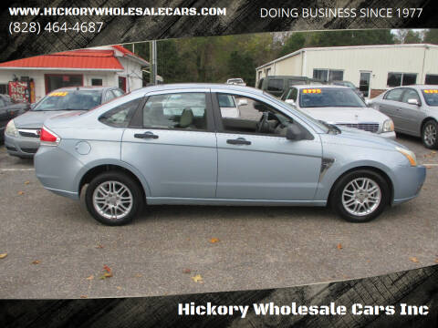 2008 Ford Focus for sale at Hickory Wholesale Cars Inc in Newton NC