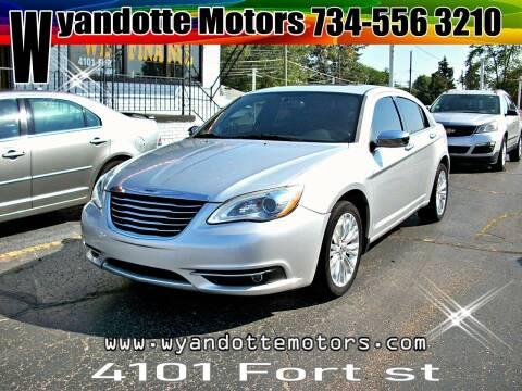 2011 Chrysler 200 for sale at Wyandotte Motors in Wyandotte MI