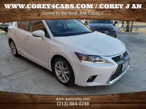 2017 Lexus CT 200h for sale at WWW.COREY4CARS.COM / COREY J AN in Los Angeles CA