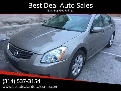 2007 Nissan Maxima for sale at Best Deal Auto Sales in Saint Charles MO