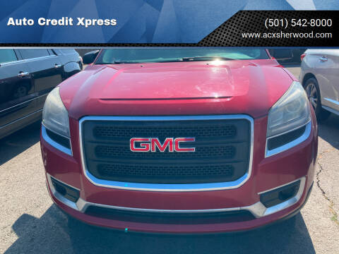 2013 GMC Acadia for sale at Auto Credit Xpress in North Little Rock AR