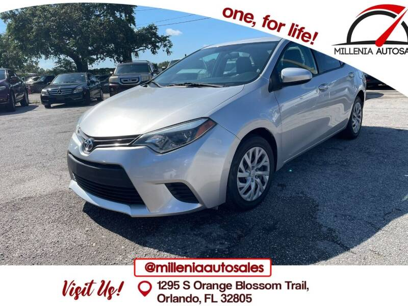 2015 Toyota Corolla for sale at Millenia Auto Sales in Orlando FL