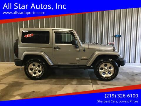 2014 Jeep Wrangler for sale at All Star Autos, Inc in La Porte IN