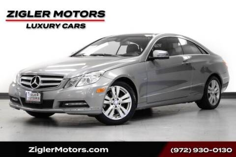 2012 Mercedes-Benz E-Class for sale at Zigler Motors in Addison TX