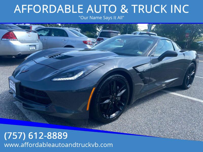 2018 Chevrolet Corvette for sale at AFFORDABLE AUTO & TRUCK INC in Virginia Beach VA