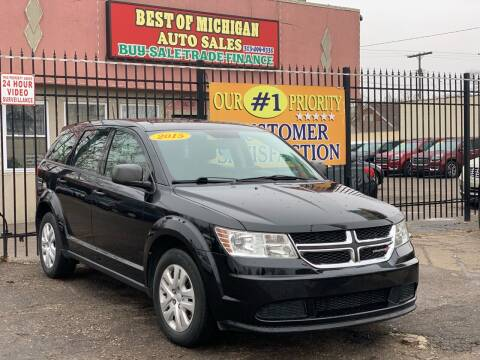 2015 Dodge Journey for sale at Best of Michigan Auto Sales in Detroit MI