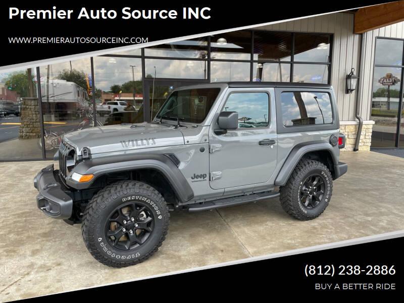 2021 Jeep Wrangler for sale at Premier Auto Source INC in Terre Haute IN