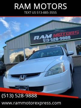 2003 Honda Accord for sale at RAM MOTORS in Cincinnati OH