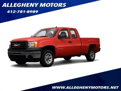 2009 GMC Sierra 1500 for sale at Allegheny Motors in Pittsburgh PA