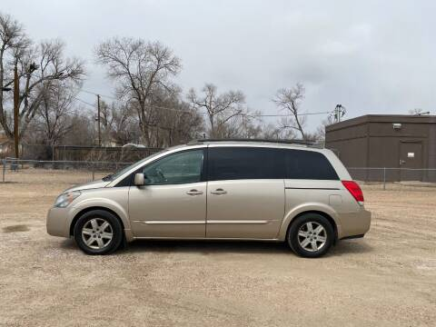 2005 Nissan Quest for sale at Chubbuck Motor Co in Ordway CO