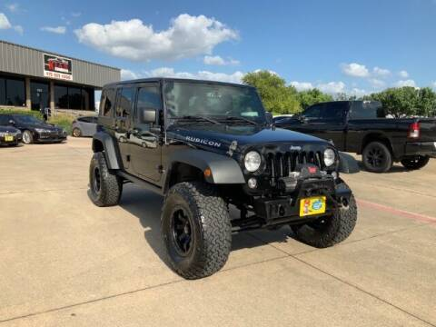 2015 Jeep Wrangler Unlimited for sale at KIAN MOTORS INC in Plano TX