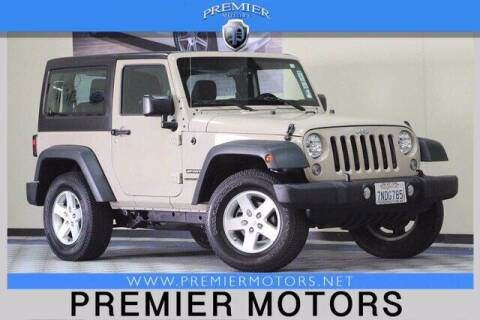 2016 Jeep Wrangler for sale at Premier Motors in Hayward CA
