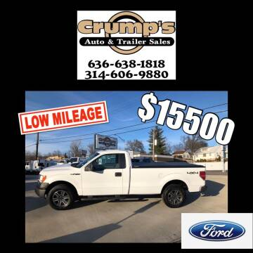 2013 Ford F-150 for sale at CRUMP'S AUTO & TRAILER SALES in Crystal City MO