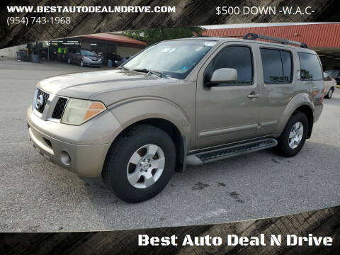 2007 Nissan Pathfinder for sale at Best Auto Deal N Drive in Hollywood FL