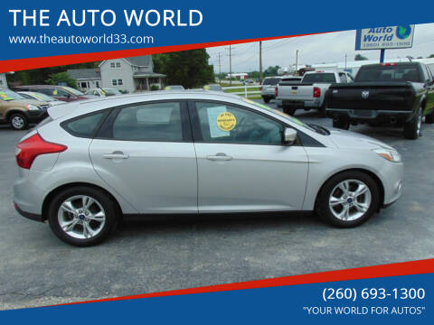 2014 Ford Focus for sale at THE AUTO WORLD in Churubusco IN