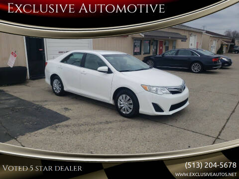 2012 Toyota Camry for sale at Exclusive Automotive in West Chester OH