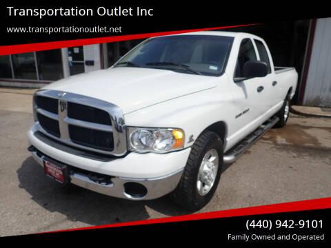 2003 Dodge Ram Pickup 2500 for sale at Transportation Outlet Inc in Eastlake OH