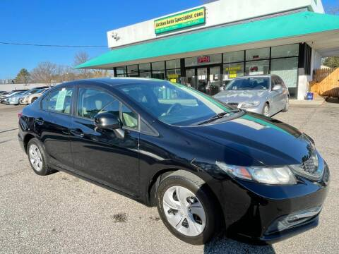 2013 Honda Civic for sale at Action Auto Specialist in Norfolk VA