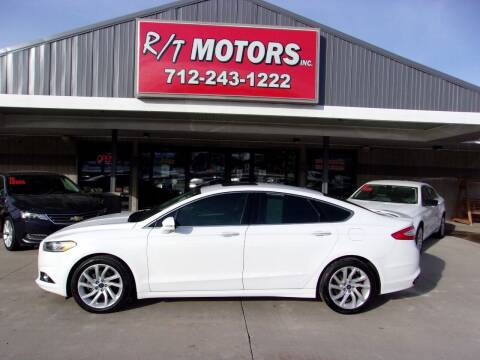 2015 Ford Fusion for sale at RT Motors Inc in Atlantic IA