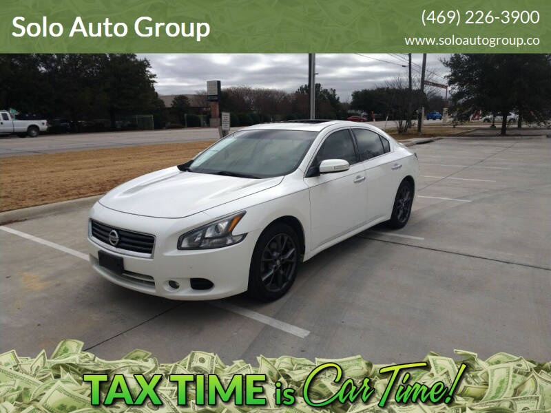 2014 Nissan Maxima for sale at Solo Auto Group in Mckinney TX