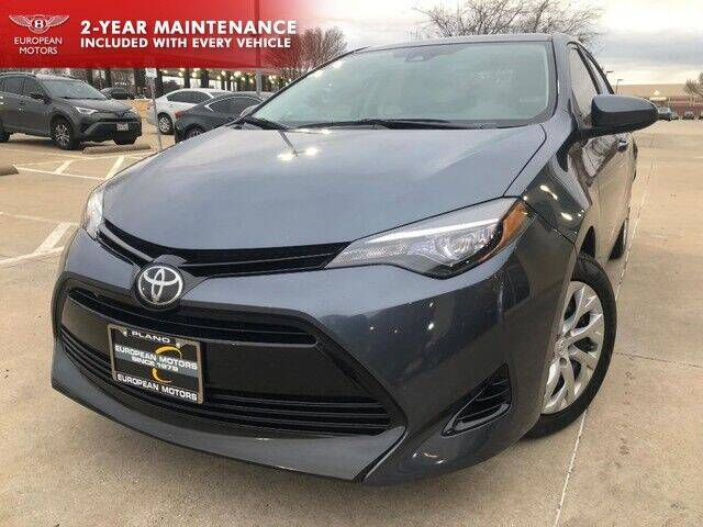 2017 Toyota Corolla for sale at European Motors Inc in Plano TX