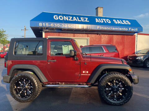 2008 Jeep Wrangler for sale at Gonzalez Auto Sales in Joliet IL