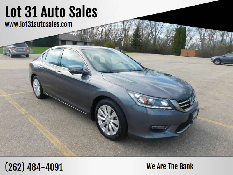 2013 Honda Accord for sale at Lot 31 Auto Sales in Kenosha WI