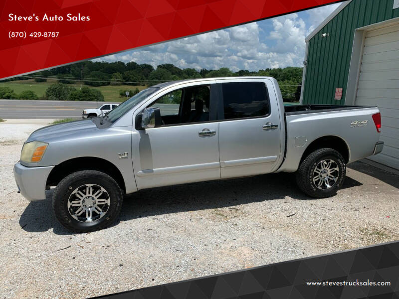 2004 Nissan Titan for sale at Steve's Auto Sales in Harrison AR