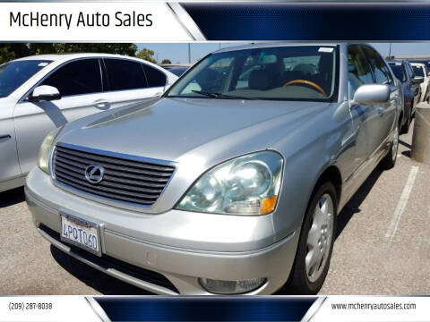 2001 Lexus LS 430 for sale at MCHENRY AUTO SALES in Modesto CA