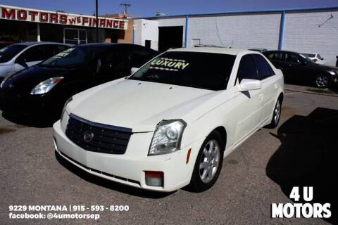 2004 Cadillac CTS for sale at 4 U MOTORS in El Paso TX