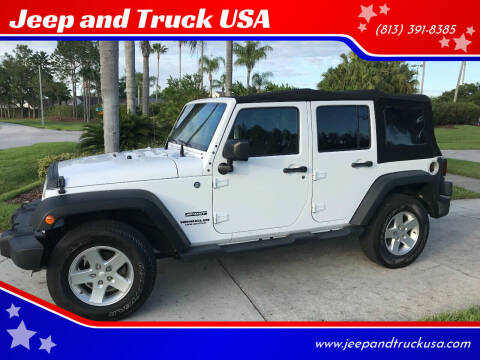 2015 Jeep Wrangler Unlimited for sale at Jeep and Truck USA in Tampa FL