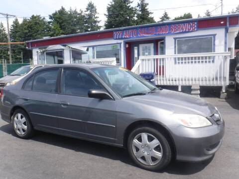 2004 Honda Civic for sale at 777 Auto Sales and Service in Tacoma WA