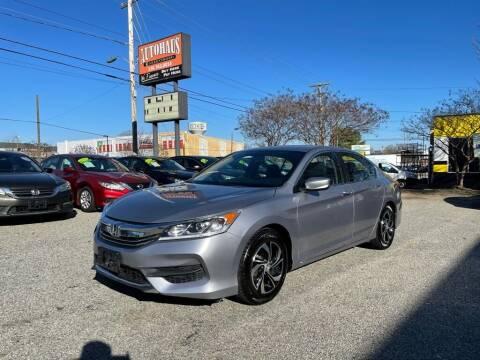2017 Honda Accord for sale at Autohaus of Greensboro in Greensboro NC