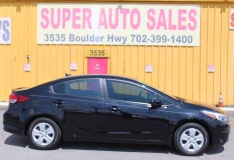 2017 Kia Forte for sale at Super Auto Sales in Las Vegas NV