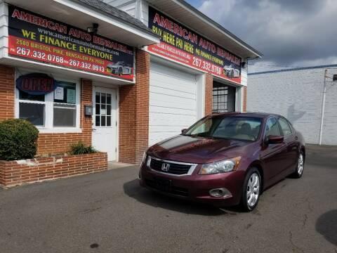 2008 Honda Accord for sale at American Auto Bensalem Inc in Bensalem PA