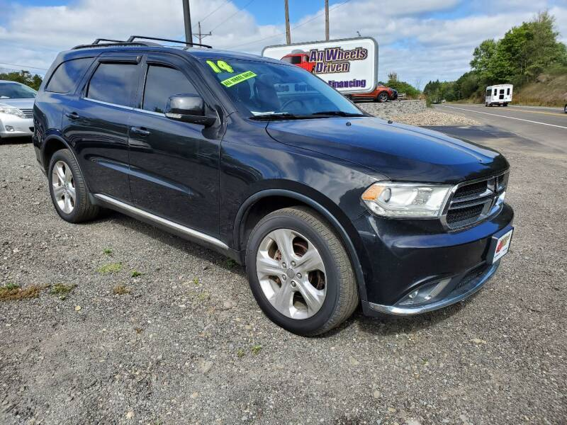 2014 Dodge Durango for sale at ALL WHEELS DRIVEN in Wellsboro PA