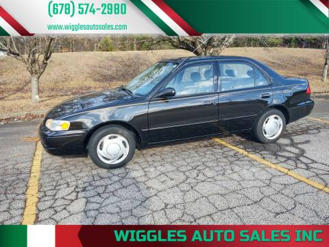 1999 Toyota Corolla for sale at WIGGLES AUTO SALES INC in Mableton GA