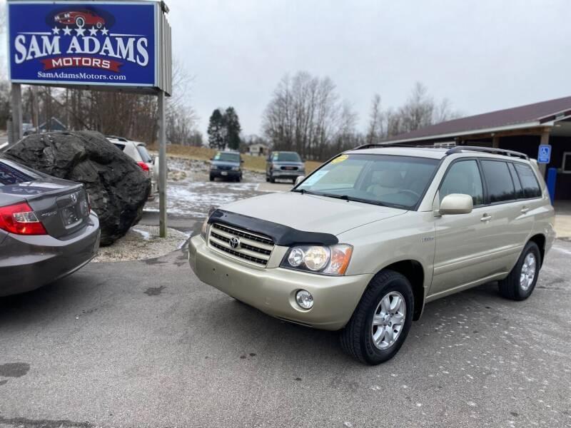 2001 Toyota Highlander for sale at Sam Adams Motors in Cedar Springs MI