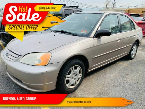 2002 Honda Civic for sale at BUENDIA AUTO GROUP in Hasbrouck Heights NJ