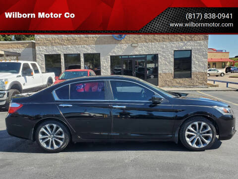 2013 Honda Accord for sale at Wilborn Motor Co in Fort Worth TX