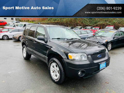 2006 Ford Escape for sale at Sport Motive Auto Sales in Seattle WA