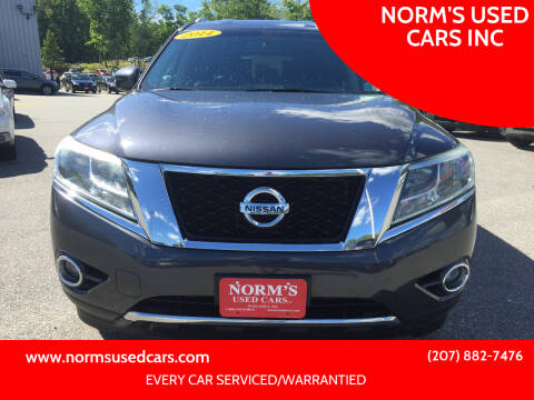 2014 Nissan Pathfinder for sale at NORM'S USED CARS INC in Wiscasset ME