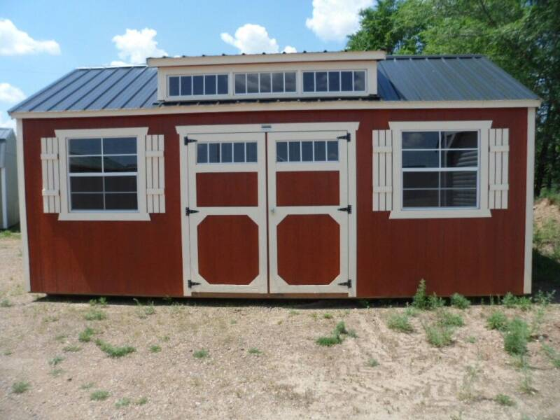 2021 Old Hickory Buildings 10' X 20' Utility with Dormer  for sale at Paul Oman's Westside Auto Sales in Chippewa Falls WI