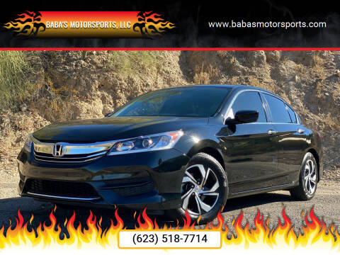 2017 Honda Accord for sale at Baba's Motorsports, LLC in Phoenix AZ