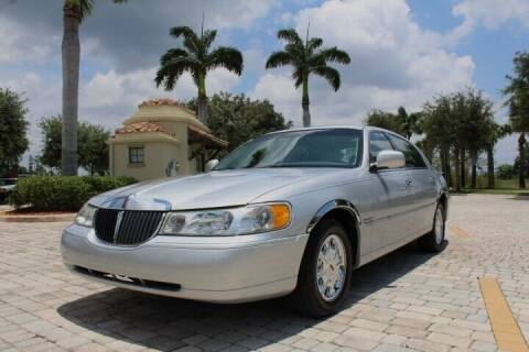 1999 Lincoln Town Car for sale at LIBERTY MOTORCARS INC in Royal Palm Beach FL