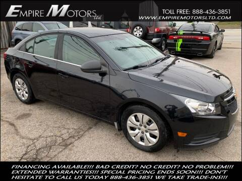 2012 Chevrolet Cruze for sale at Empire Motors LTD in Cleveland OH