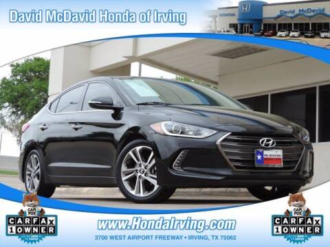 2017 Hyundai Elantra for sale at DAVID McDAVID HONDA OF IRVING in Irving TX