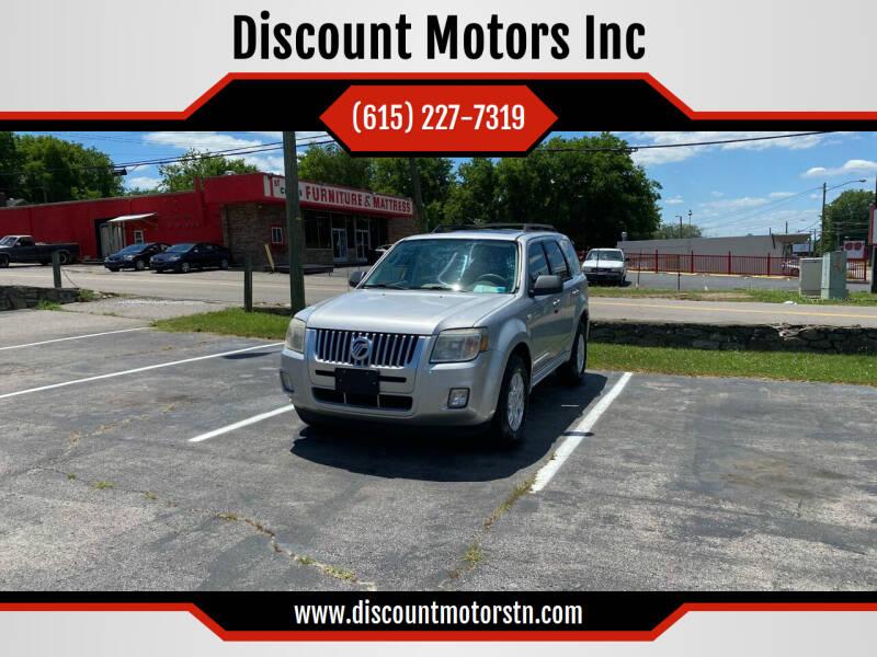 2009 Mercury Mariner for sale at Discount Motors Inc in Nashville TN