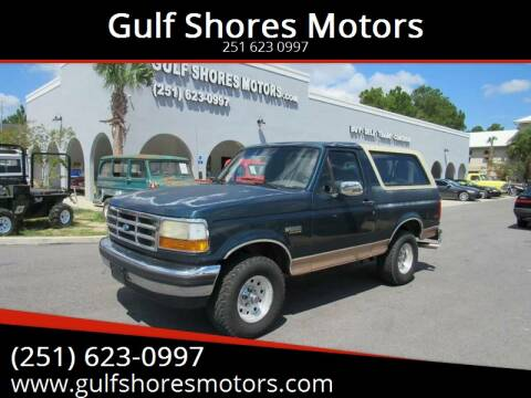 1994 Ford Bronco for sale at Gulf Shores Motors in Gulf Shores AL