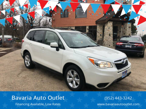 2015 Subaru Forester for sale at Bavaria Auto Outlet in Victoria MN